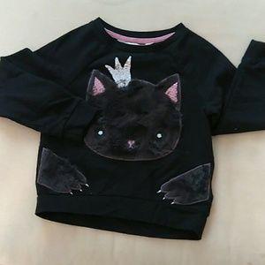 H&M Girls Kitty Sweatshirt